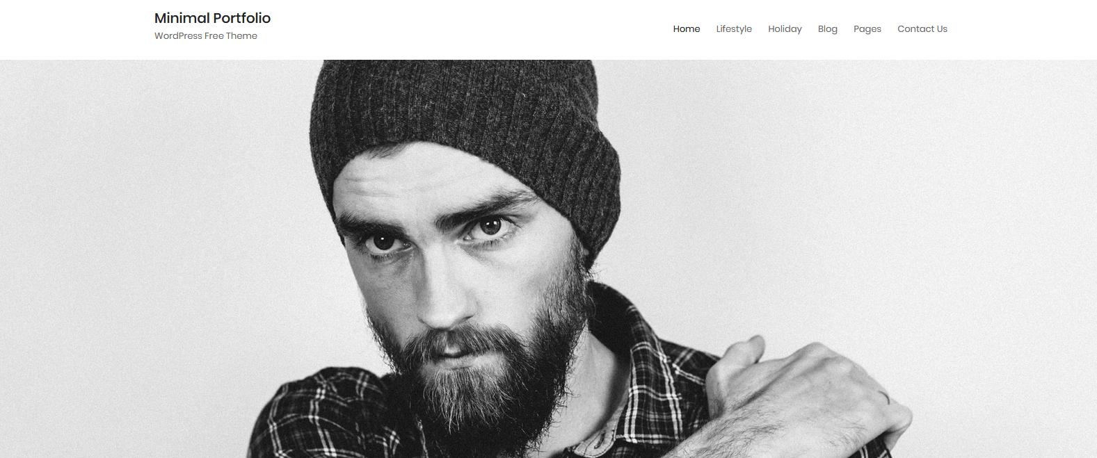 Демо-сайт с темой Minimal Portfolio