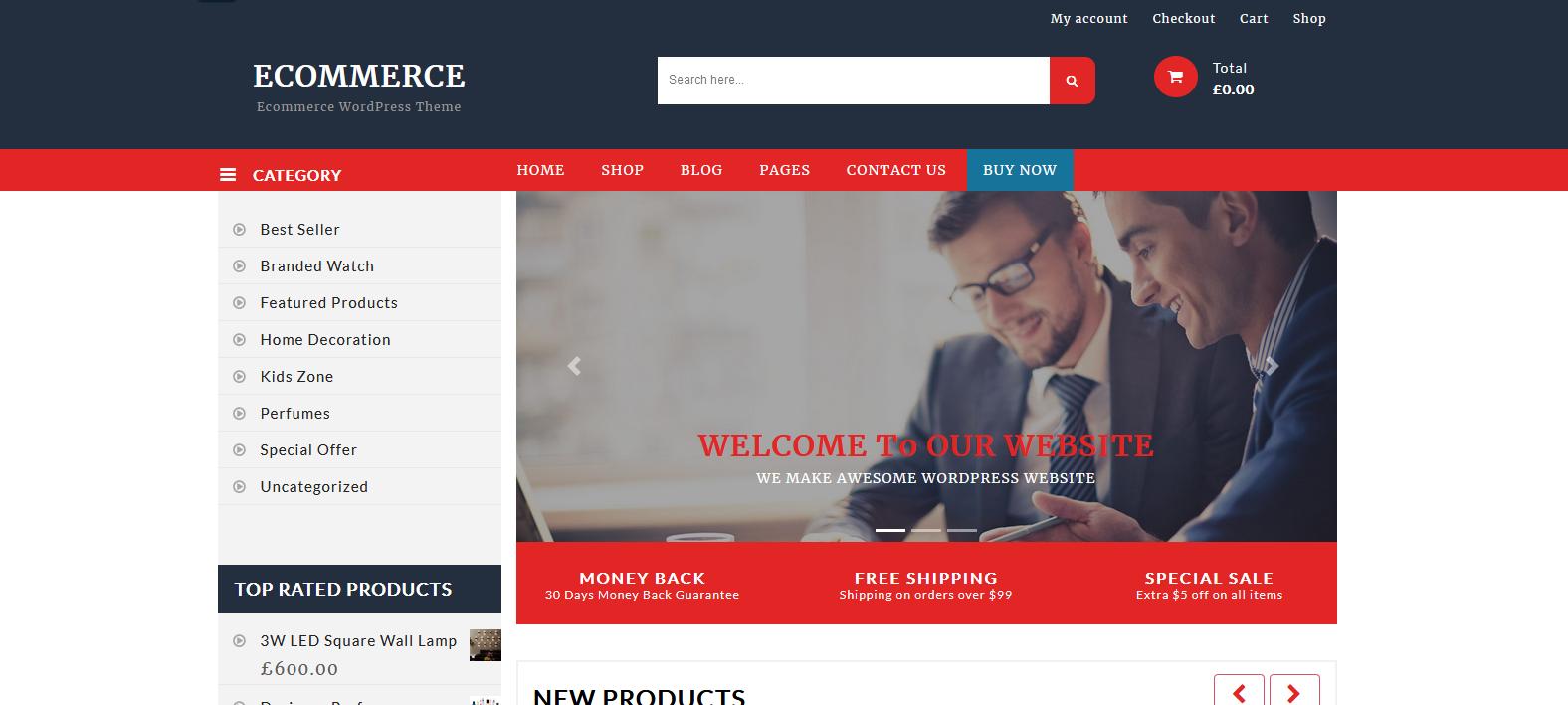 Демо-сайт с темой BB Ecommerce Store