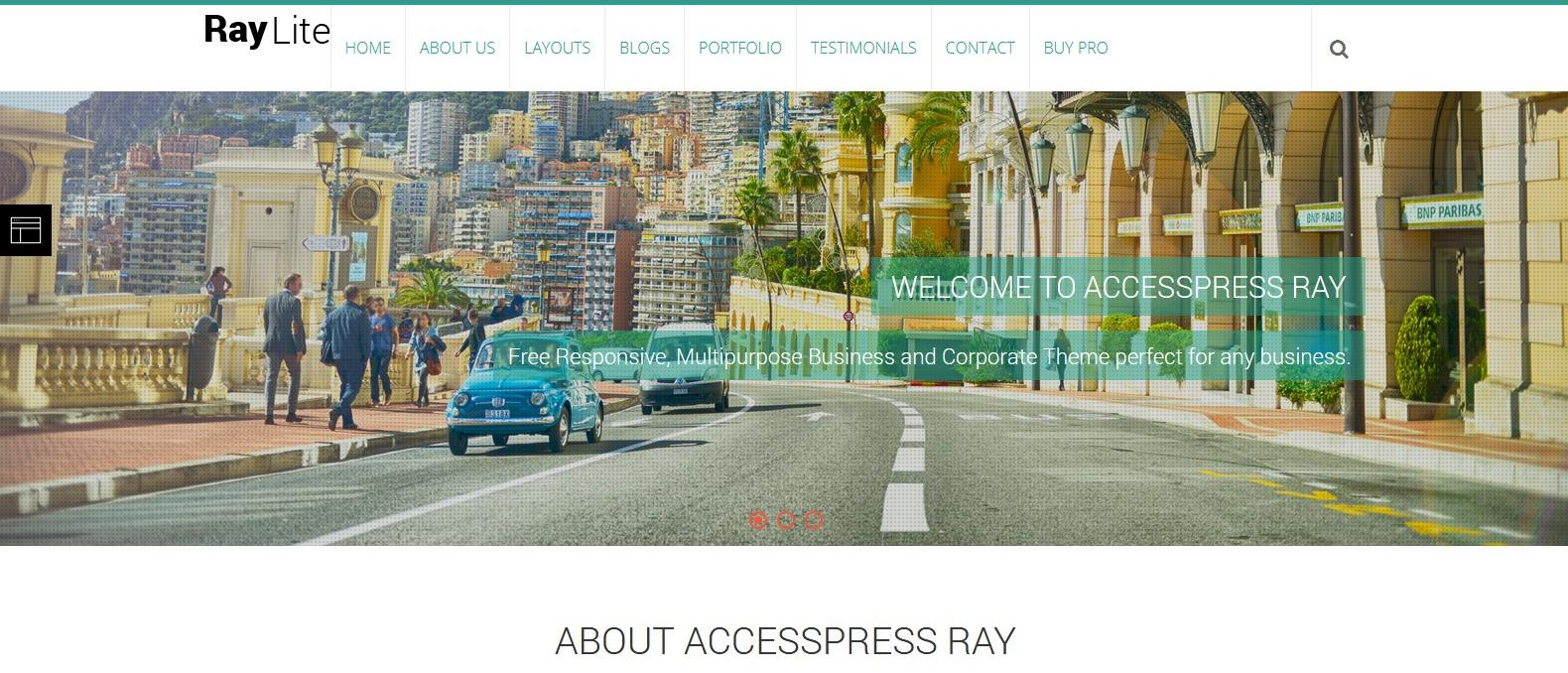 Демо-сайт с темой AccessPress Ray