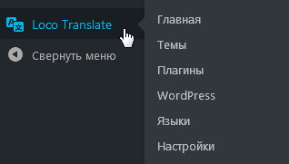 Админ-меню WordPress