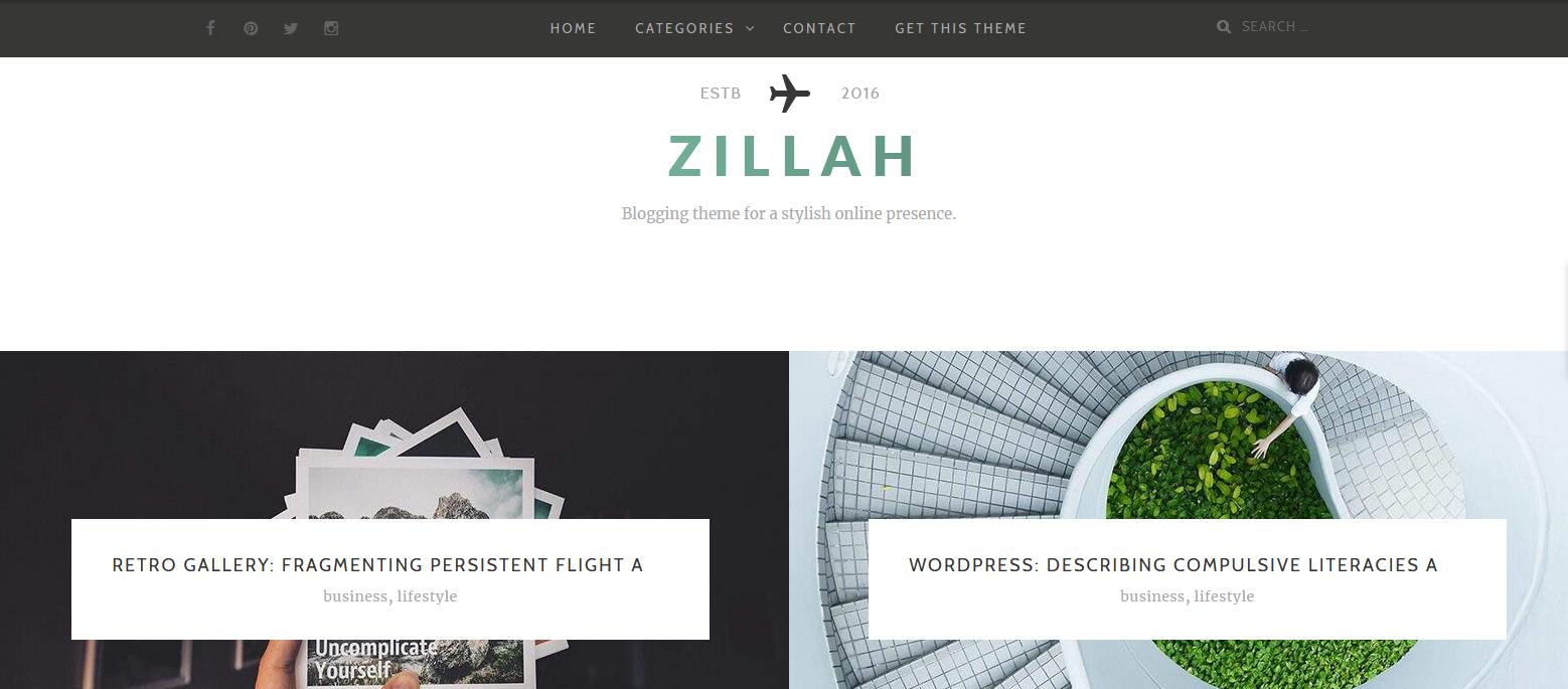 Демо-сайт с темой Zillah