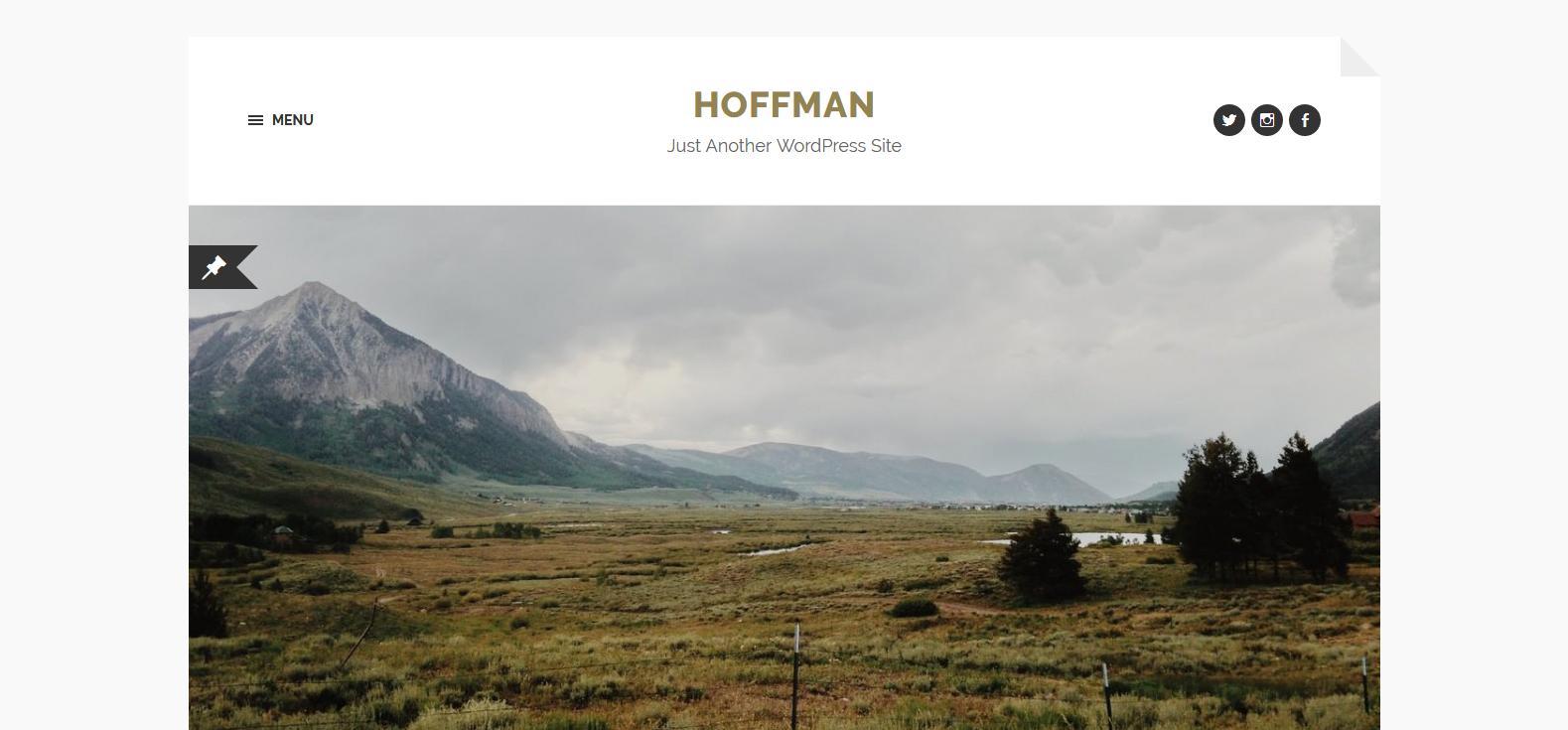 Демо-сайт с темой Hoffman