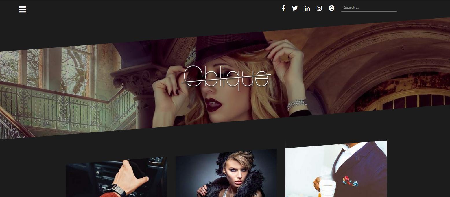 Демо-сайт с темой Oblique