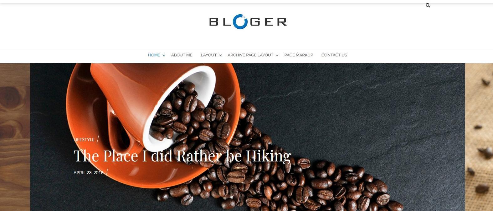 Демо-сайт с темой Bloger