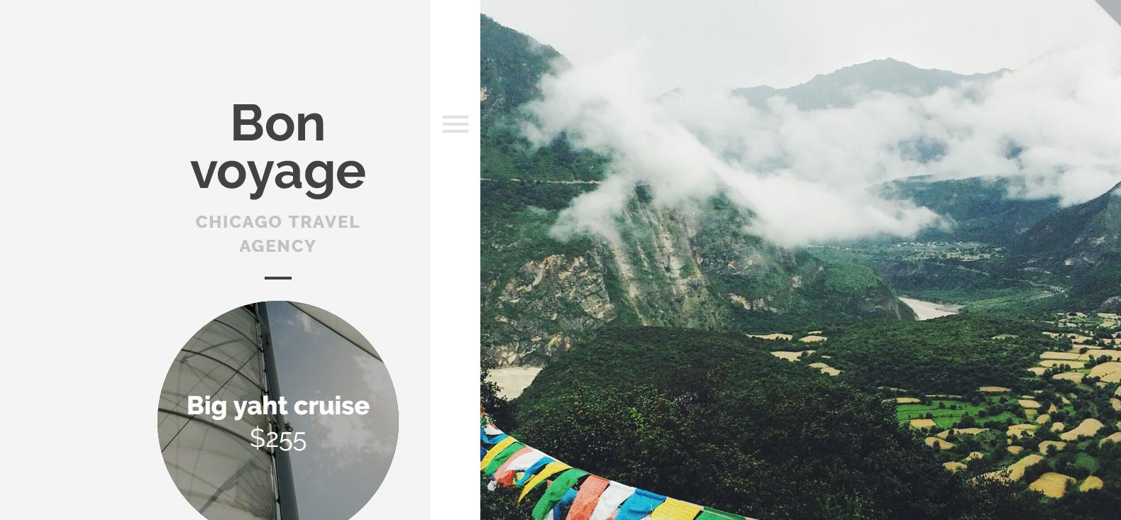 Демо-версия сайта с темой Bon Voyage
