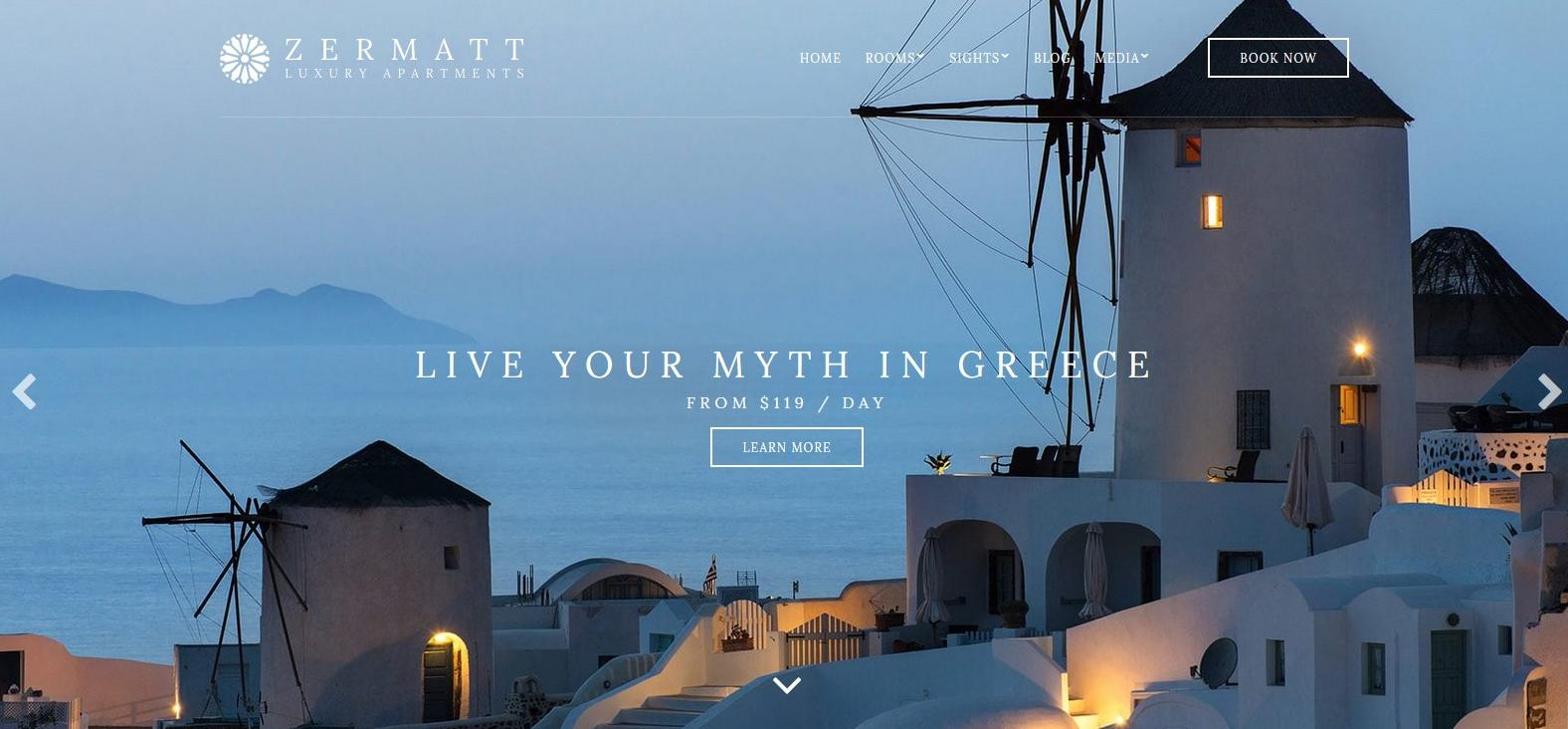 Демо-версия сайта с темой Zermatt
