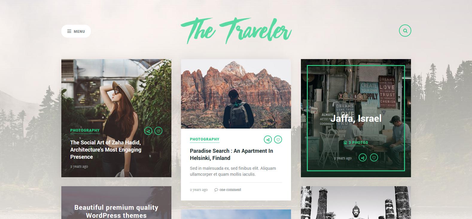 Демо-версия сайта с темой The Traveler