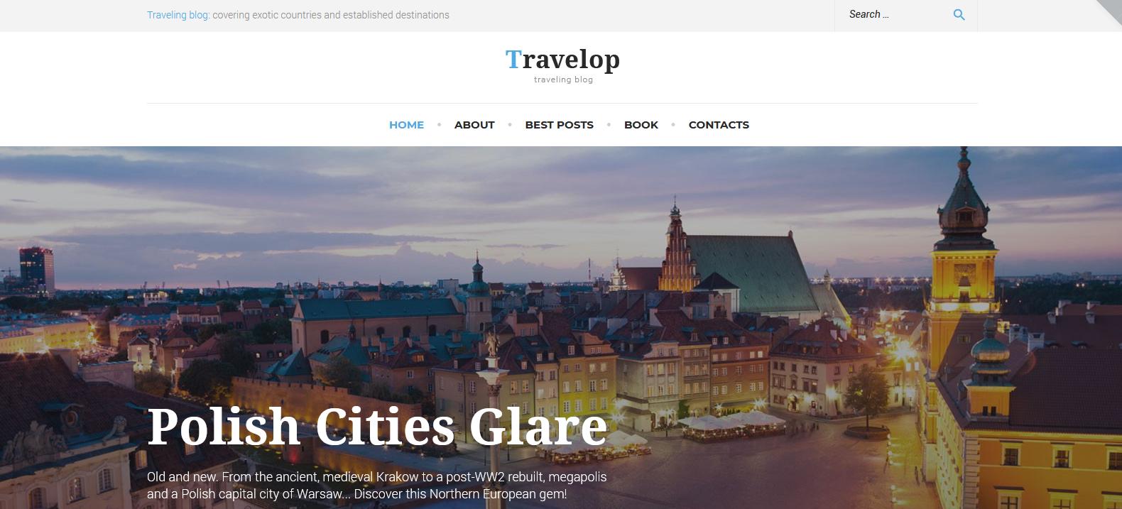 Демо-версия сайта с темой Travelop