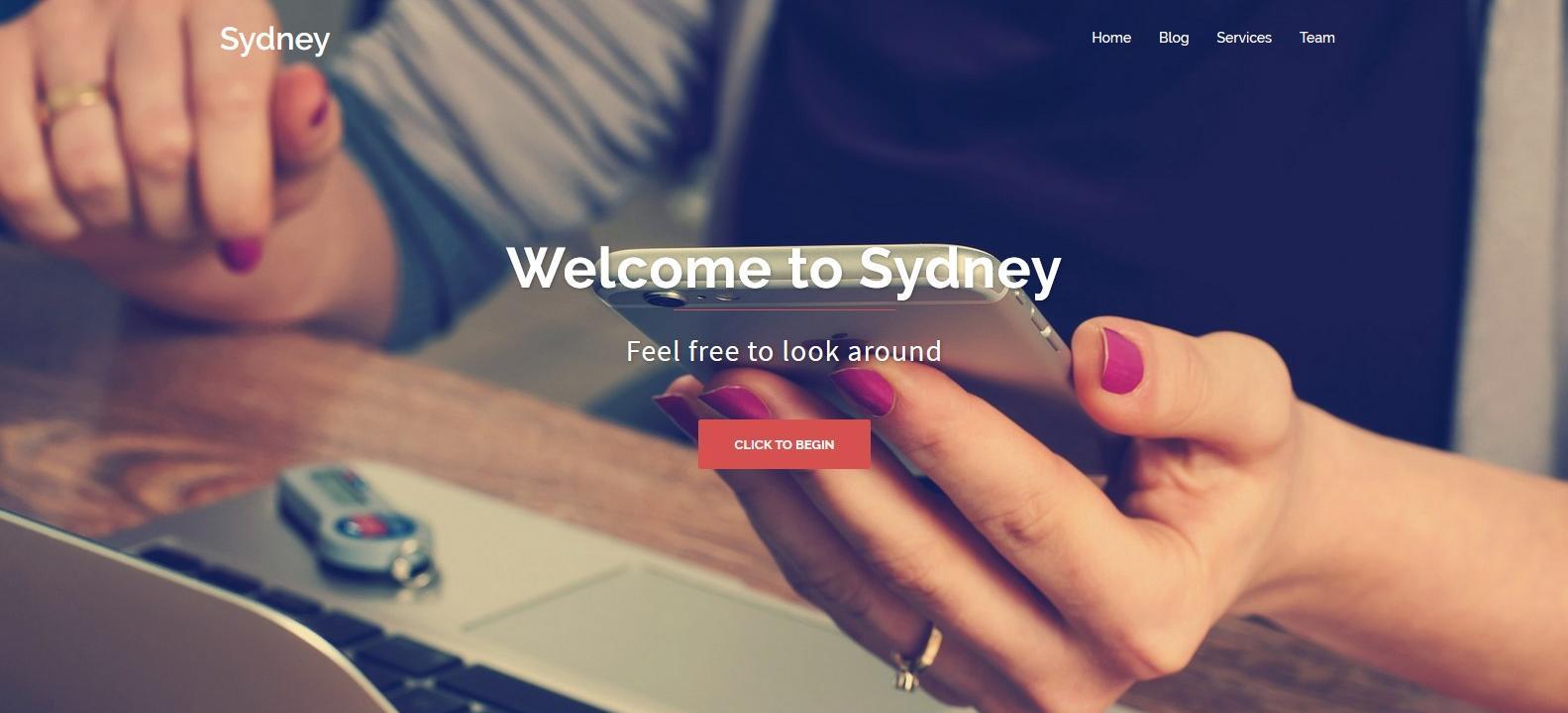 Демо-сайт с темой Sydney