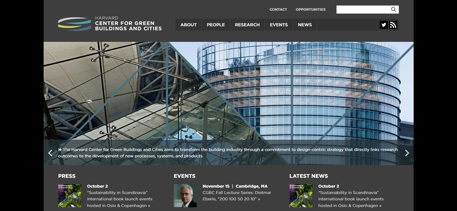 Главная страница сайта http://harvardcgbc.org