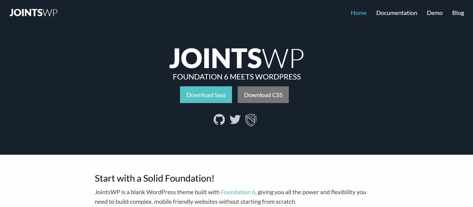 Главная страница сайта http://jointswp.com