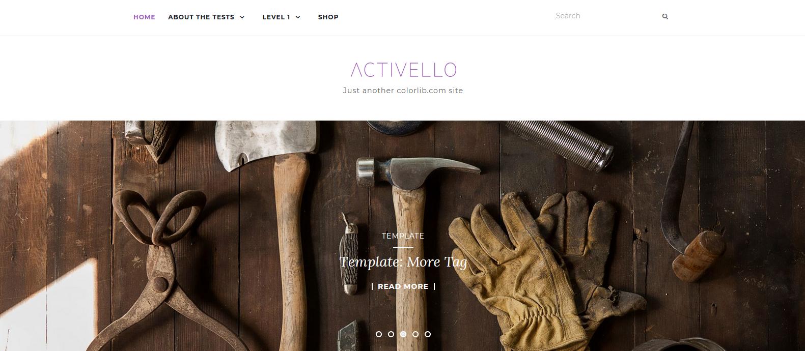 Демо-сайт с темой Activello