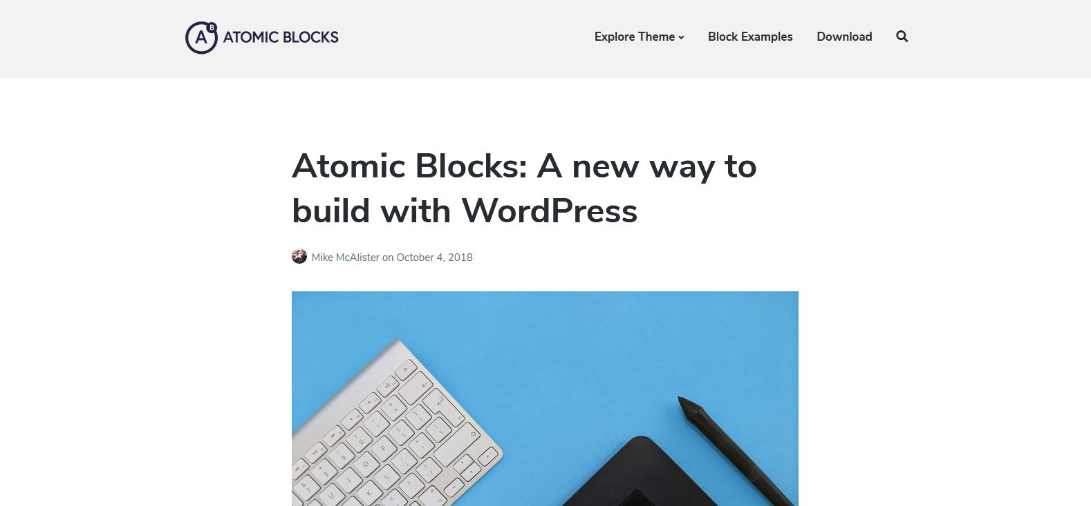 Демо-сайт с темой Atomic Blocks