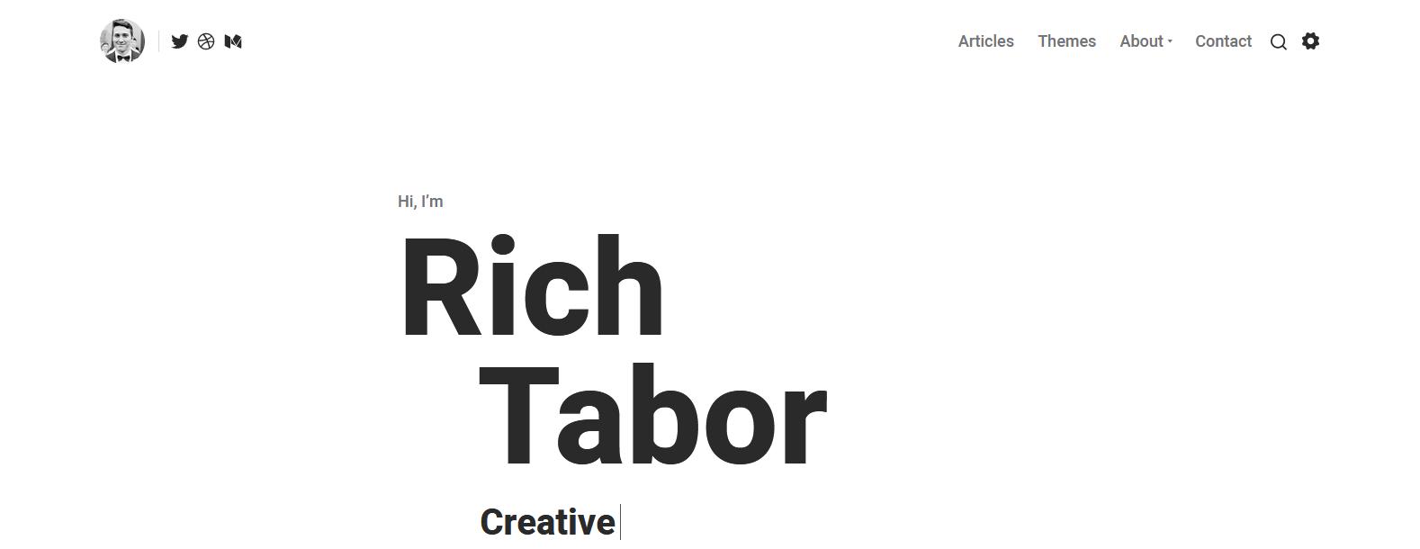 Демо-сайт с темой Tabor