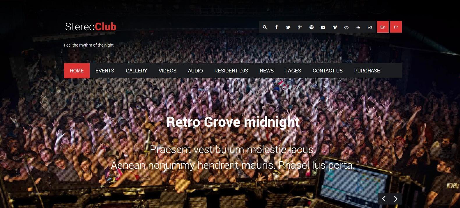 Демо-сайт с темой StereoClub