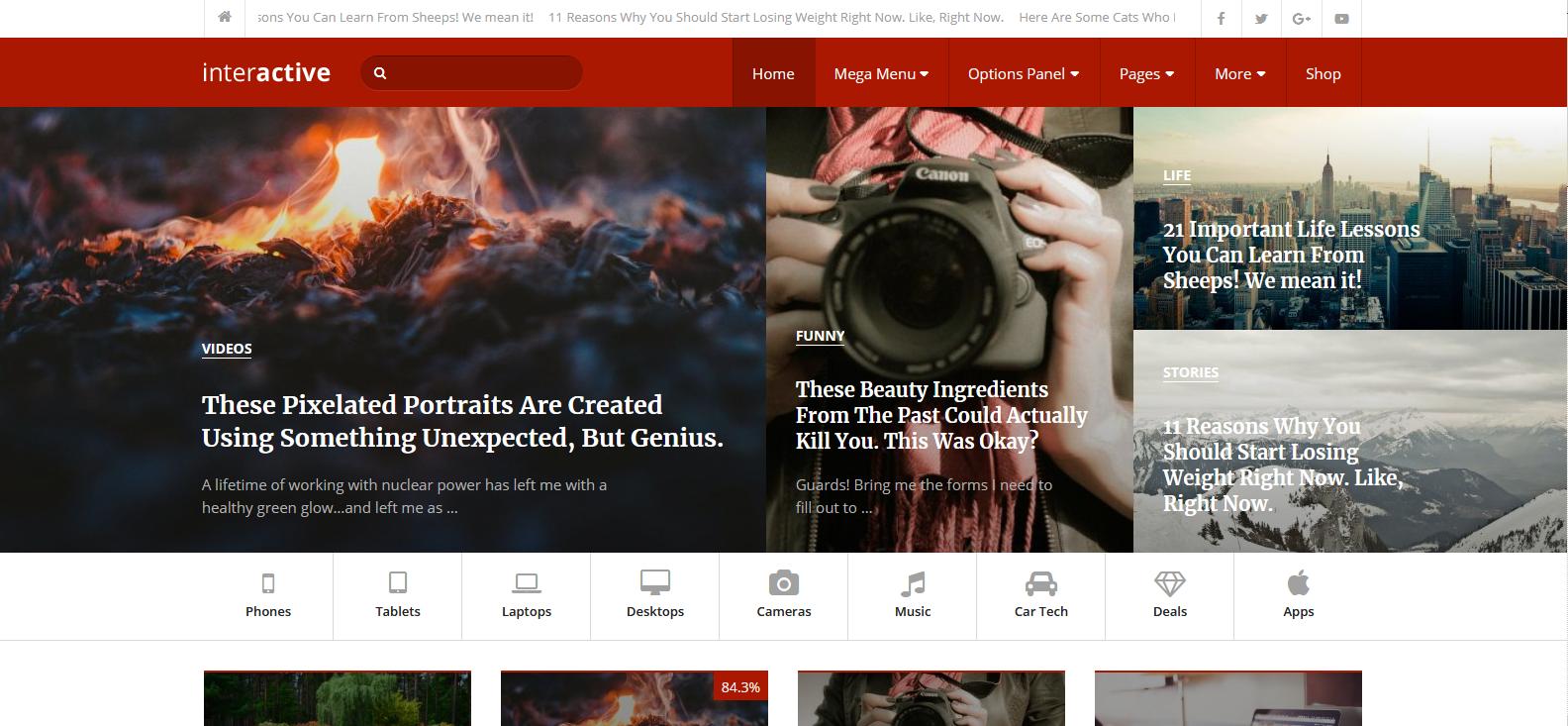 Демо сайт с темой Interactive