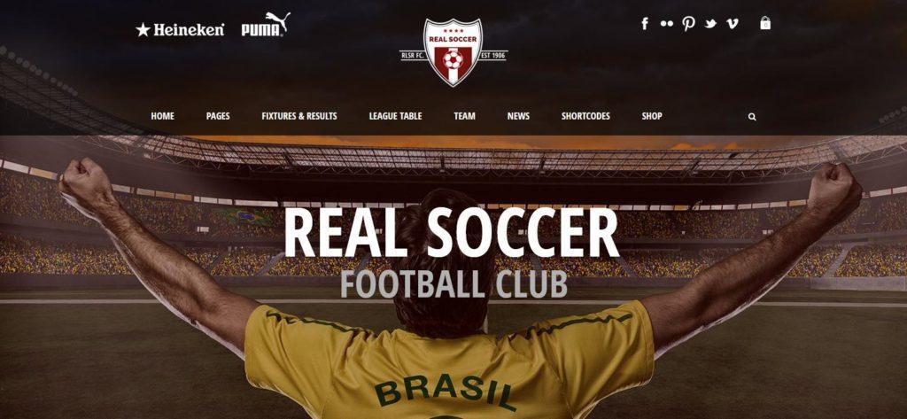 Демо версия темы Real Soccer