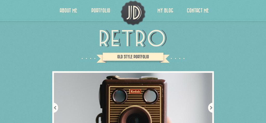 Демо-сайт с темой Retro Portfolio