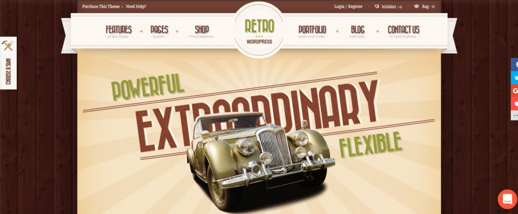 Демо-сайт с темой Retro