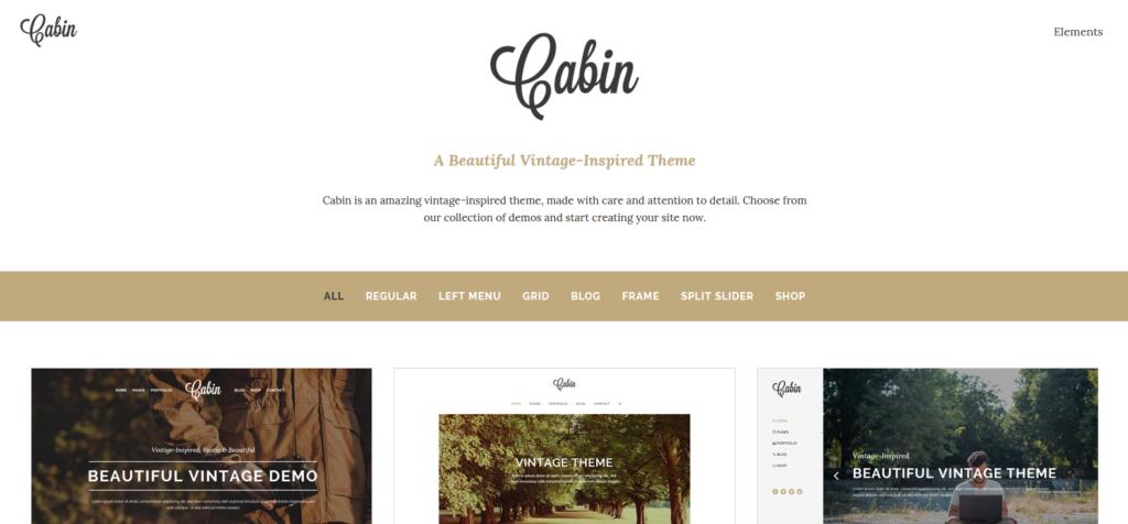Демо-сайт с темой Cabin