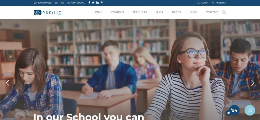 Демо сайт с WordPress темой Education Pack