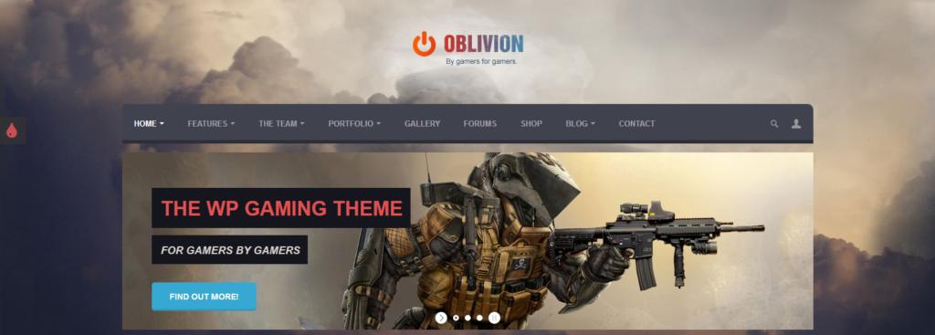 Демо сайт с темой Oblivion
