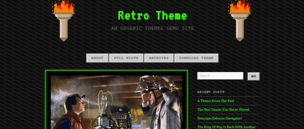 Демо сайт с темой 90s Retro