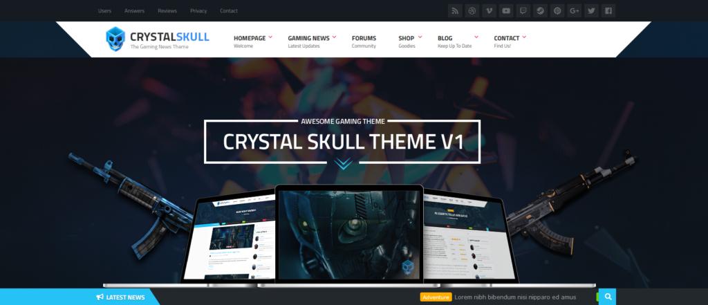 Демо сайт с темой CrystalSkull