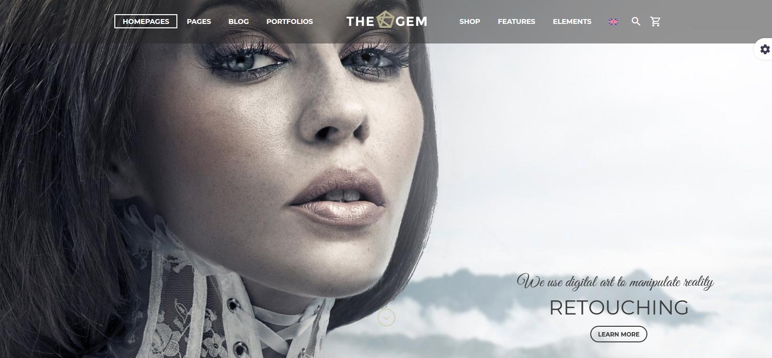 Демо сайт и темой TheGem