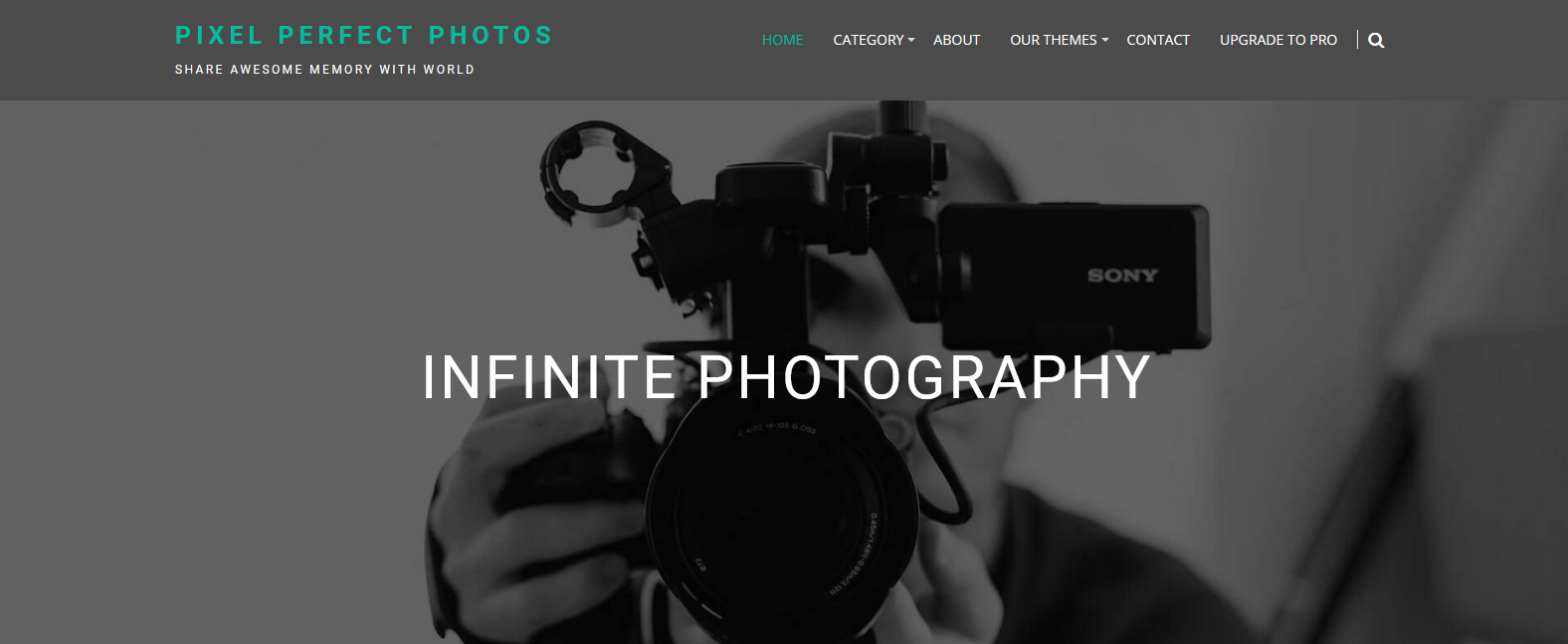 Демо сайт и темой Infinite Photography