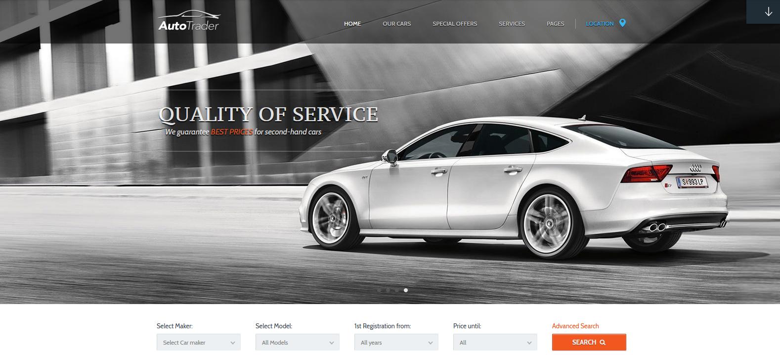 Демо сайт с темой AutoTrader