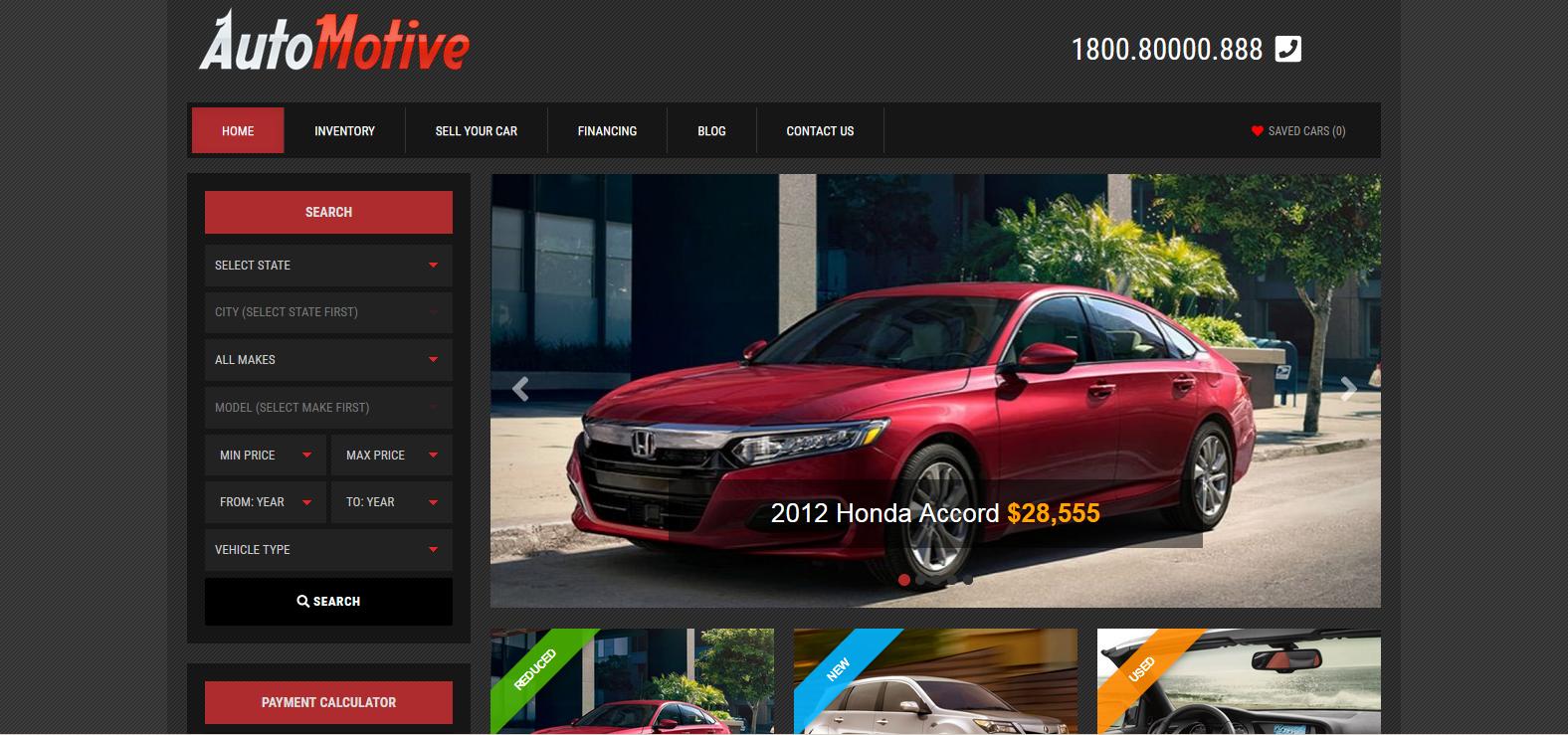 Демо сайт с темой Automotive