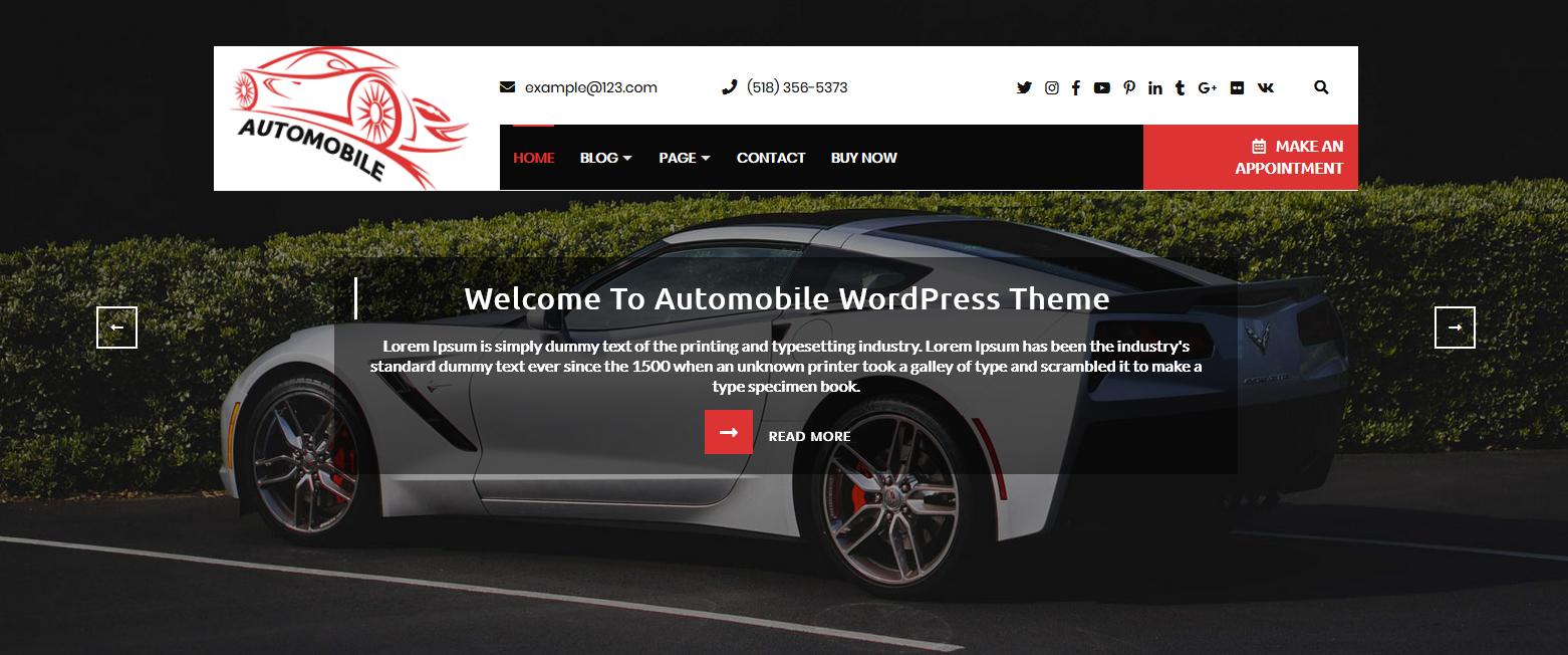 Демо сайт с темой Car Dealer