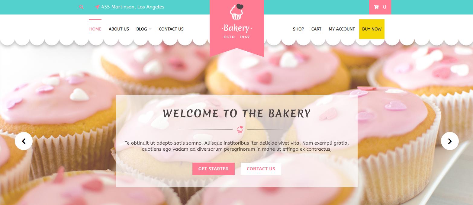 Демо сайт с темой VW Bakery