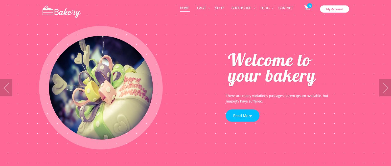 Демо сайт с темой Panadero Bakery