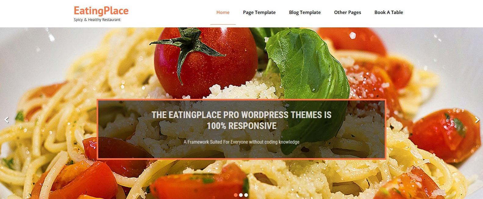 Демо сайт с темой EatingPlace