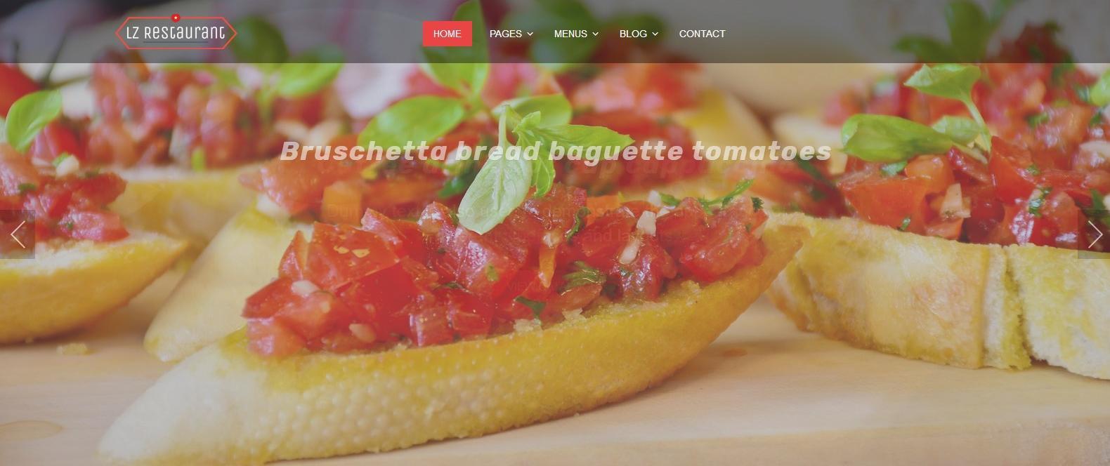 Демо сайт с темой lzrestaurant