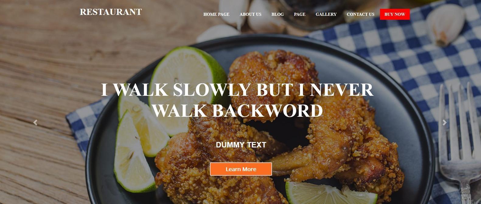 Демо сайт с темой Food Restaurant