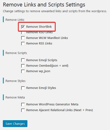 Настройка плагина Remove Links and Scripts