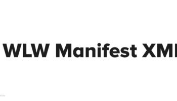 Как удалить WLWManifest XML
