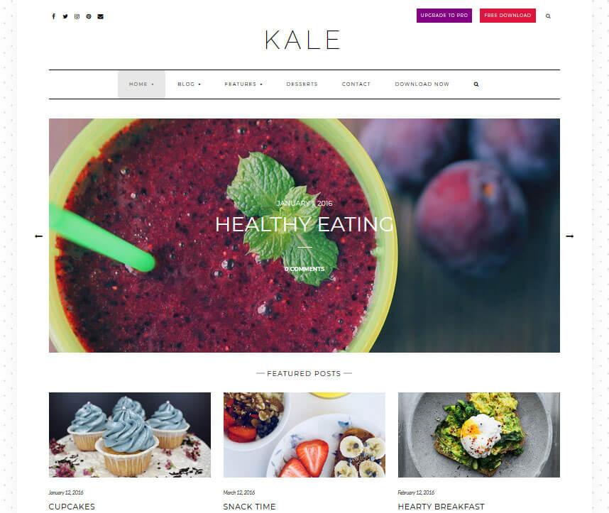 ВордПресс-шаблон Kale