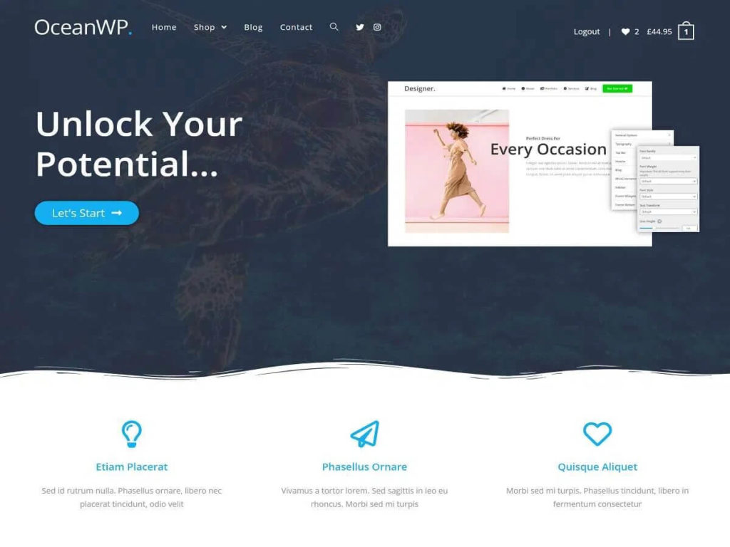 Демо-сайт с темой OceanWP