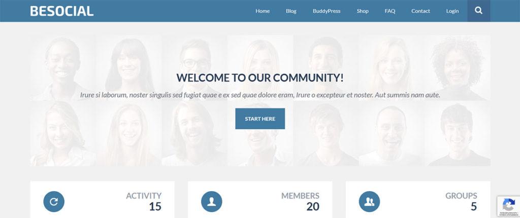 Демо-сайт на основе темы BeSocial