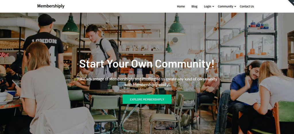 Демо-сайт на основе темы Membershiply