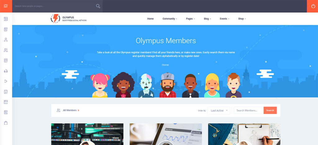 Демо-сайт на основе темы Olympus