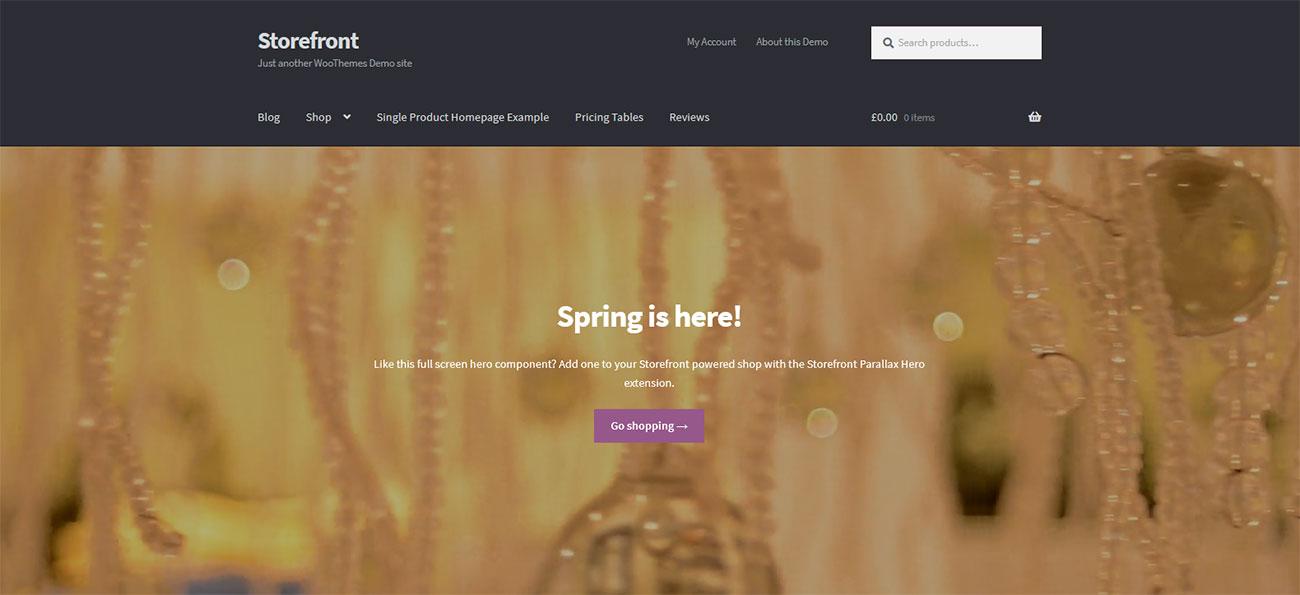 Демо-сайт с темой Storefront