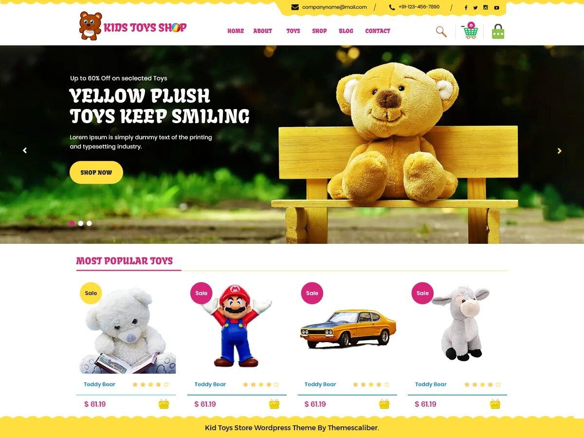 Демо-сайт с темой Kid Toys Store